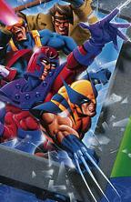"""Ken Steacy X-Men Game Box Art"""