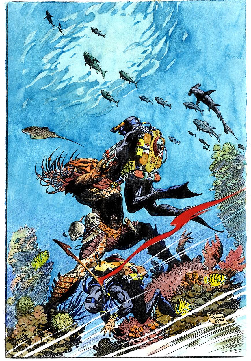 Comic Book Cover Art Sale ~ Original comic book art for sale mark schultz color guide
