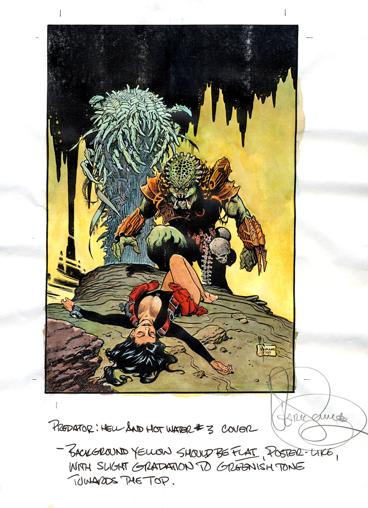 Amato Comic art for sale, Mark Schultz, Predator Color Guide DZ62