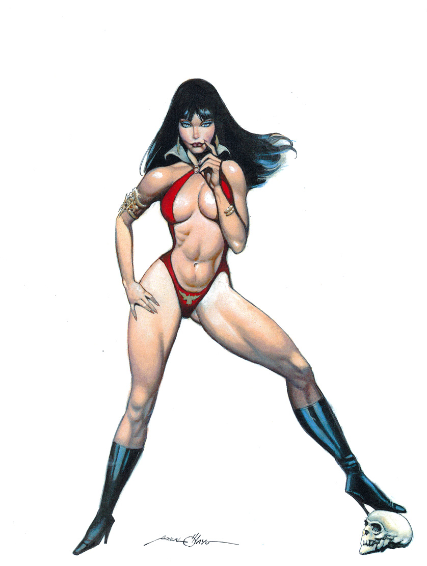vampirella original comic art: