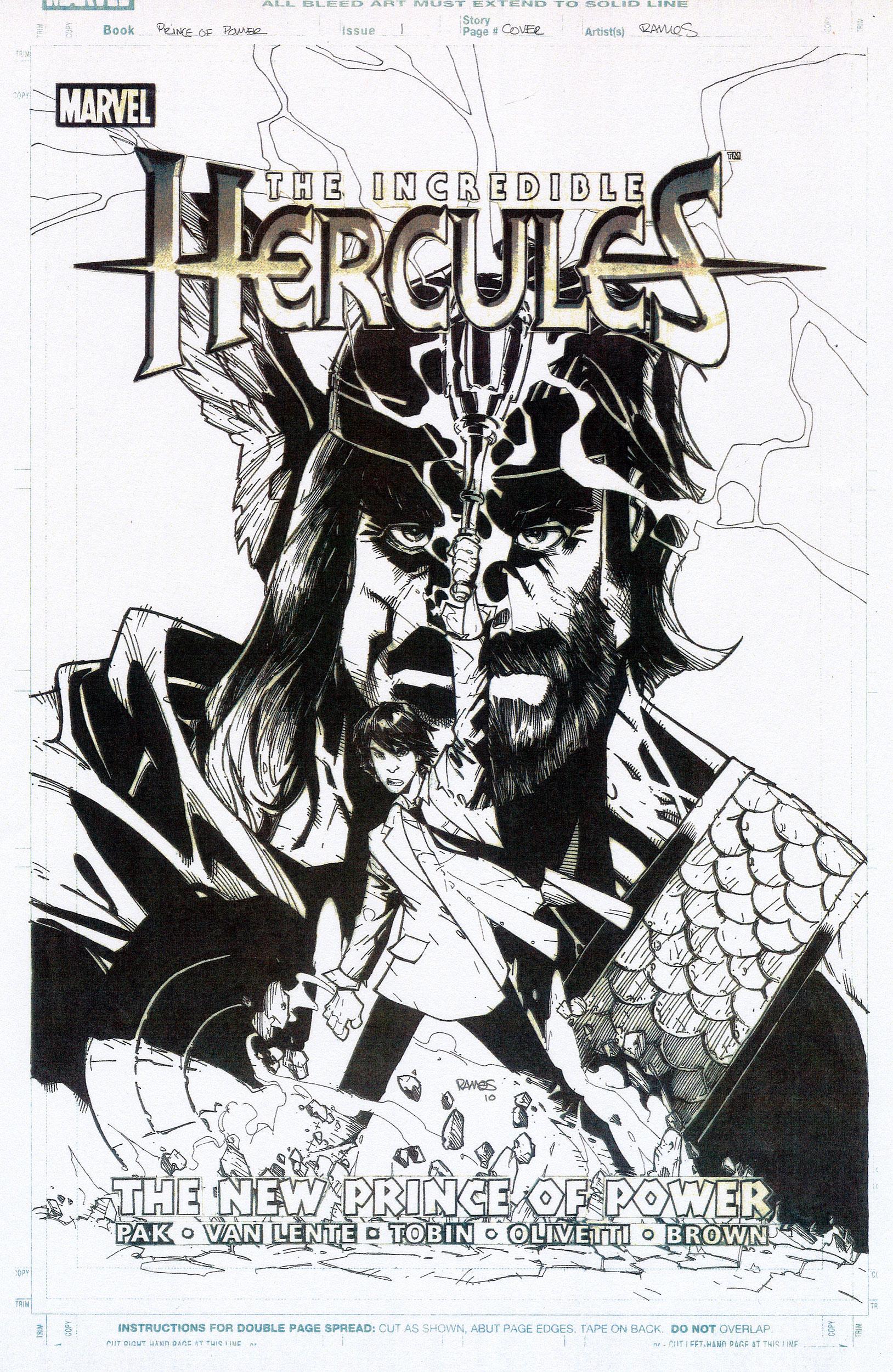 HUMBERTO RAMOS 2010 PRINCE + POWER #1 COVER Comic Art