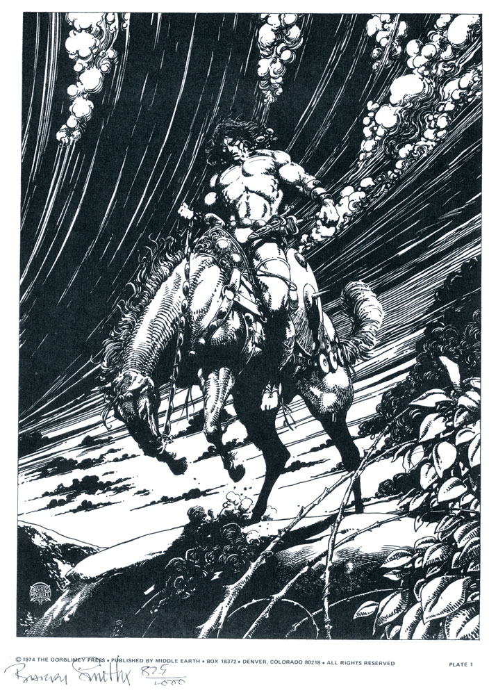 BARRY WINDSOR�SMITH 1974 CONAN LTD. EDITION PORT. Comic Art