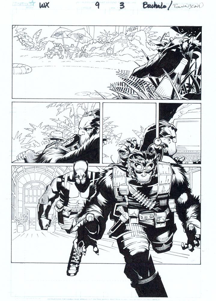 CHRIS BACHALO WOLVERINE / X-MEN #9 P.3 Comic Art