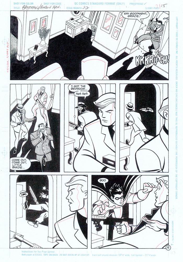 BRANDON KRUSE 1997 BATMAN ROBIN ADV 22 P15 Comic Art
