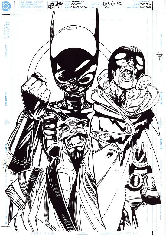 DAMION SCOTT 2002 BATGIRL #26 COVER Comic Art