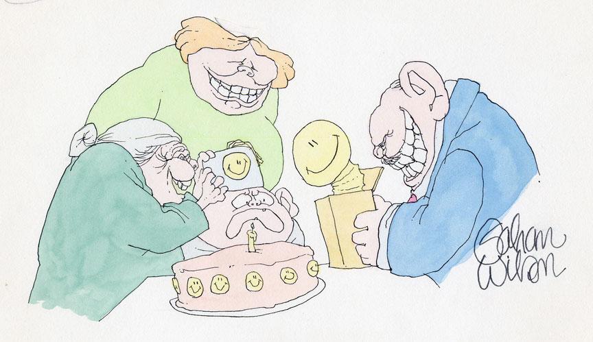 GAHAN WILSON 1980�s NATIONAL LAMPOON ART Comic Art