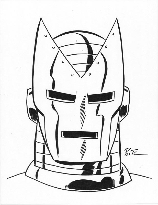 Iron Man Helmet Drawing Bruce Timm 2012 Iron Man San