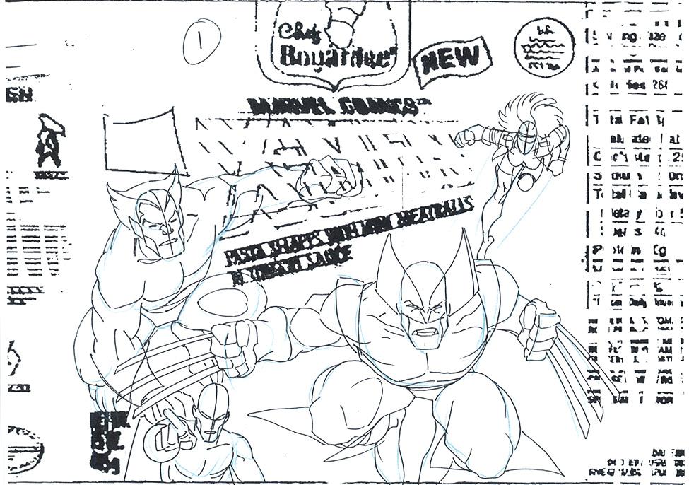 ARTHUR ADAMS 1994 X-MEN PRELIM. ARTWORK Comic Art
