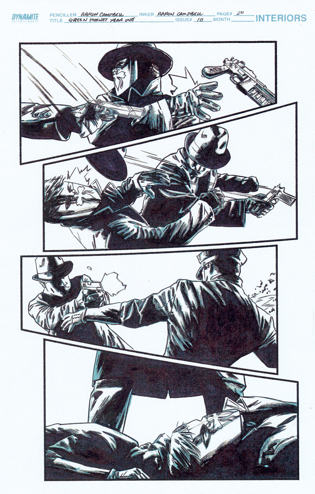 AARON CAMPBELL 2010 GREEN HORNET #10 p.20 Comic Art