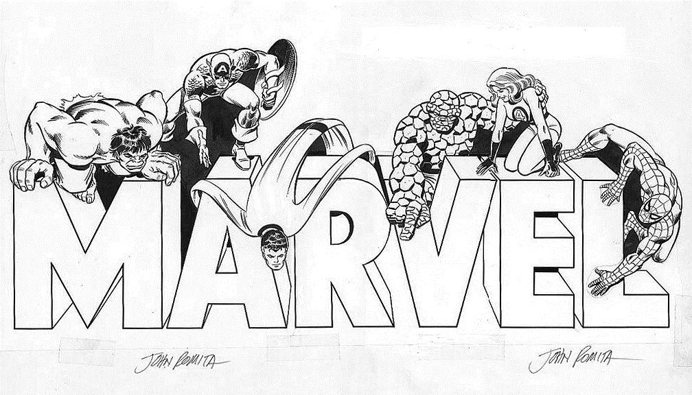 1980s marvel promo artwork