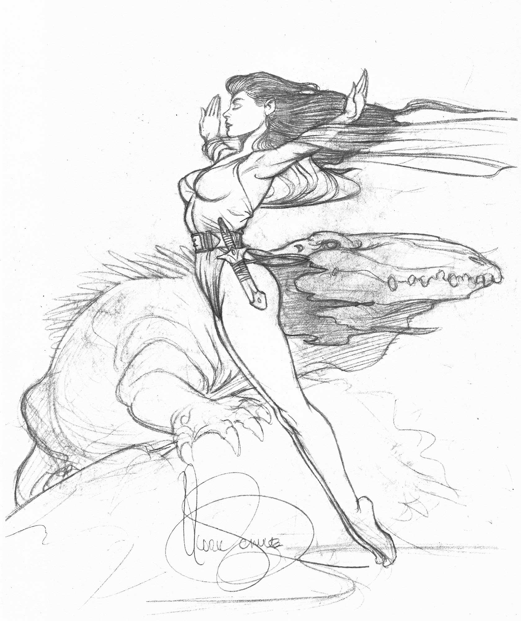 MARK SCHULTZ 1992 HANNAH DUNDEE ART Comic Art