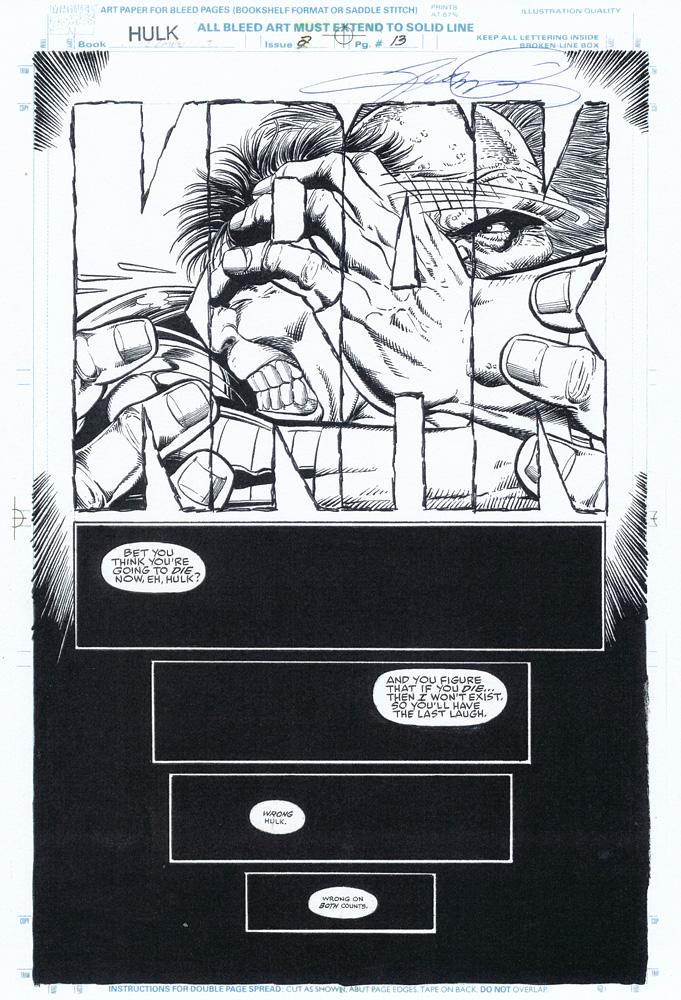 GEORGE PEREZ 1992 HULK FUTURE IMPERFECT #2 Page 13 Comic Art