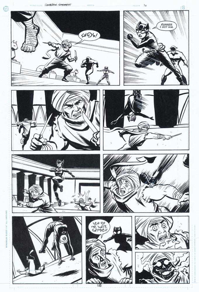 CAMERON STEWART 2002 CATWOMAN #20 p.16 Comic Art