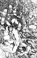 humberto-ramos-tarzan-superman-original-art-s