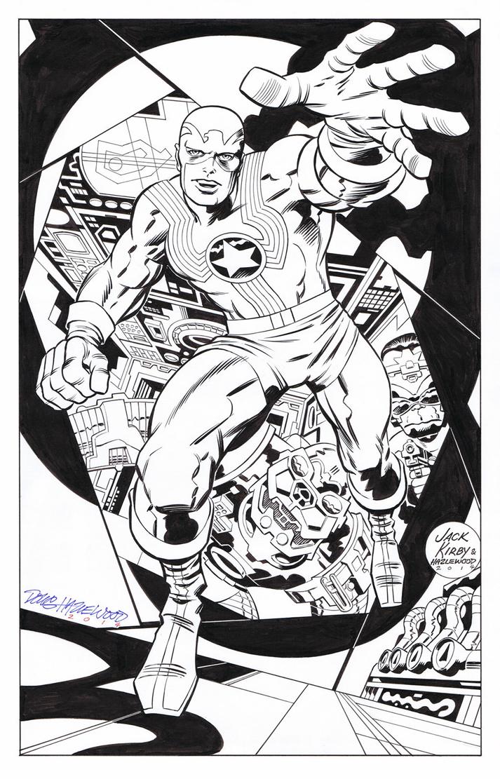 DOUG HAZLEWOOD 2014 FIGHTING AMERICAN ART Comic Art
