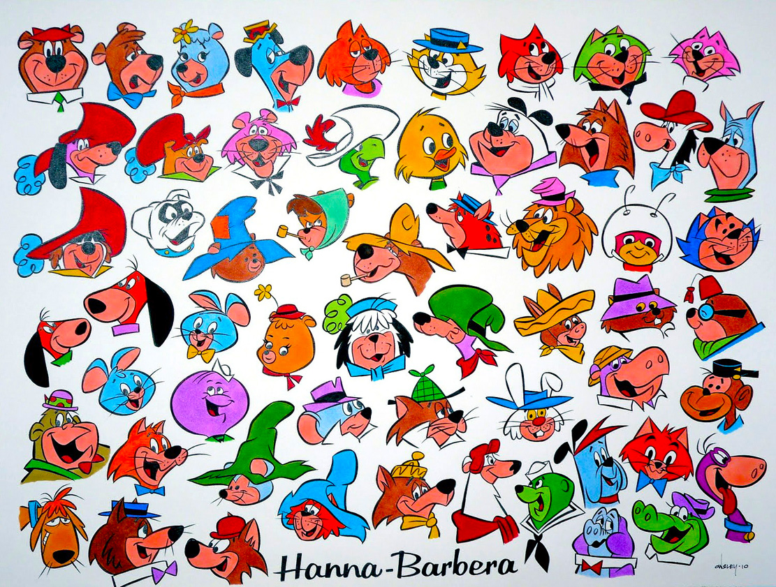 Cartoon Characters 1960s 1970s : Patrick owsley hanna barbera color character jam