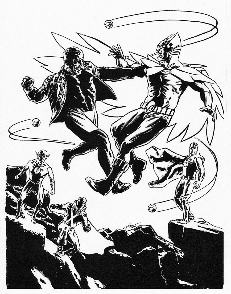 AARON CAMPBELL 2011 JUSTICE LEAGUE COMMISSION Comic Art