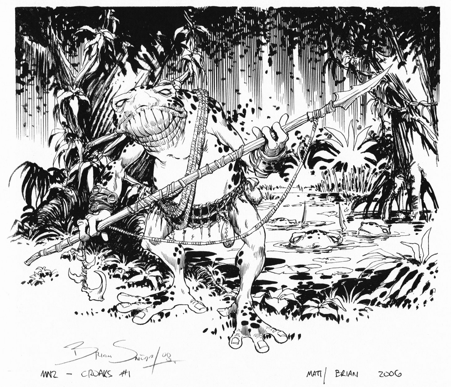 BRIAN SNOODY 2007 ROLE PLAY GAMING ART Comic Art