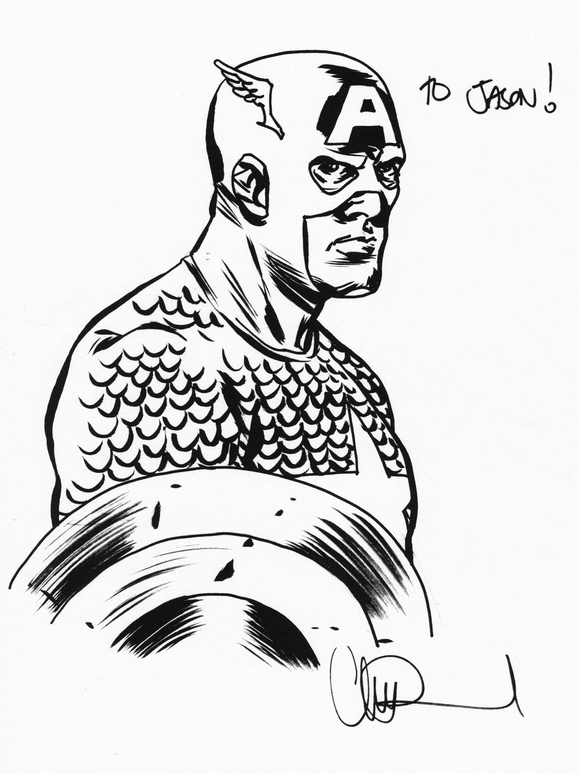 CHARLIE ADLARD CAPTAIN AMERICA ART Comic Art
