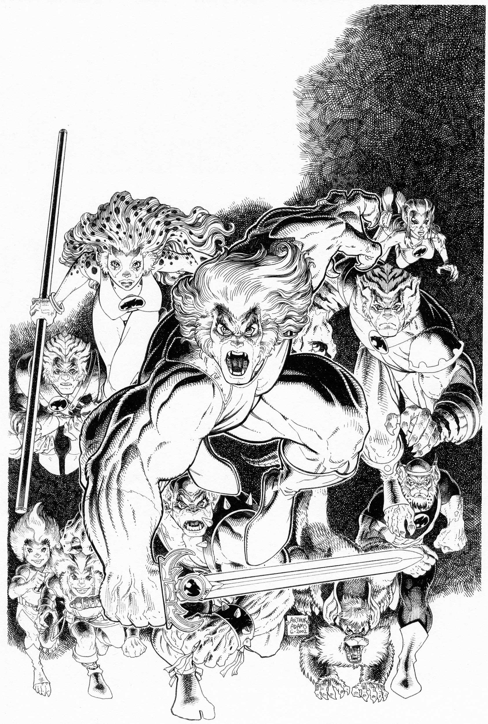 ART ADAMS THUNDERCATS #1 COVER Comic Art