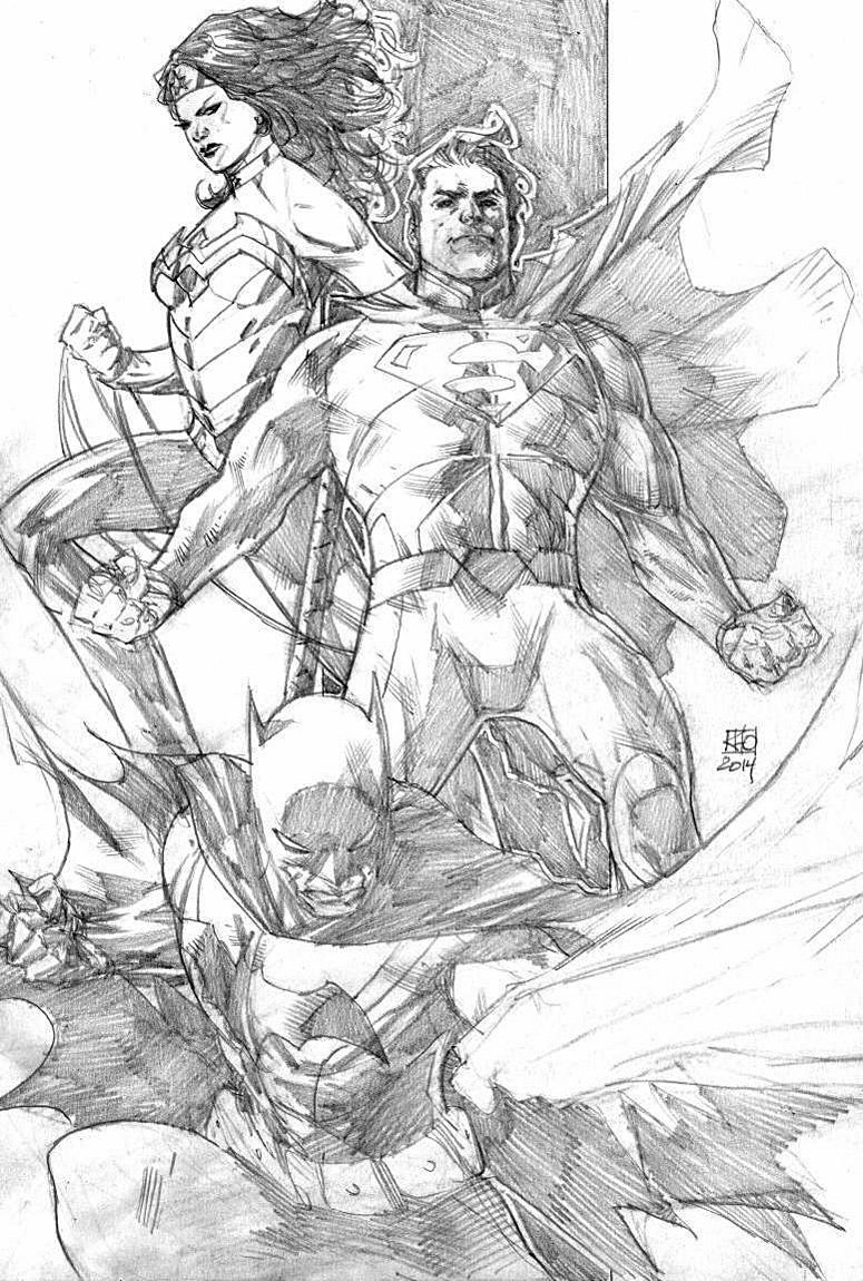 KHOI PHAM DC CHARACTER JAM Comic Art