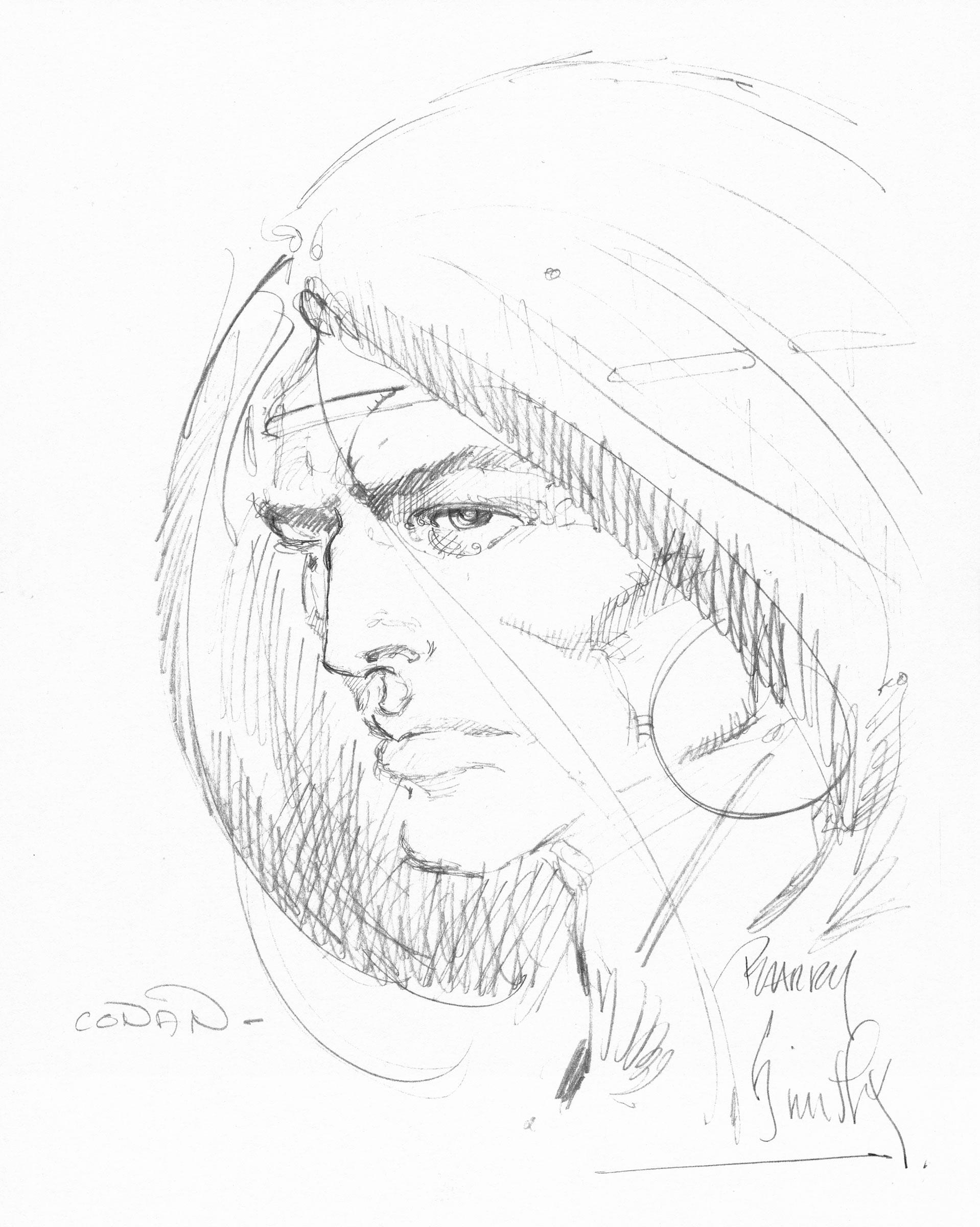 BARRY WINDSOR SMITH 1970�s CONAN PENCIL ARTWORK Comic Art