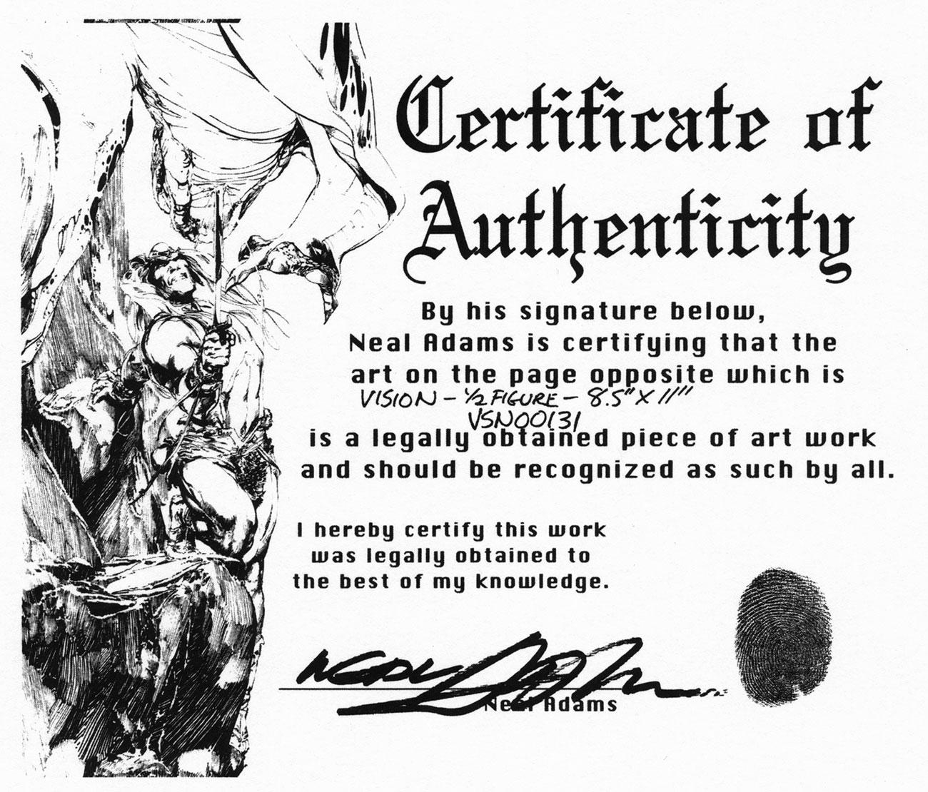 neal-adams-art-certificate