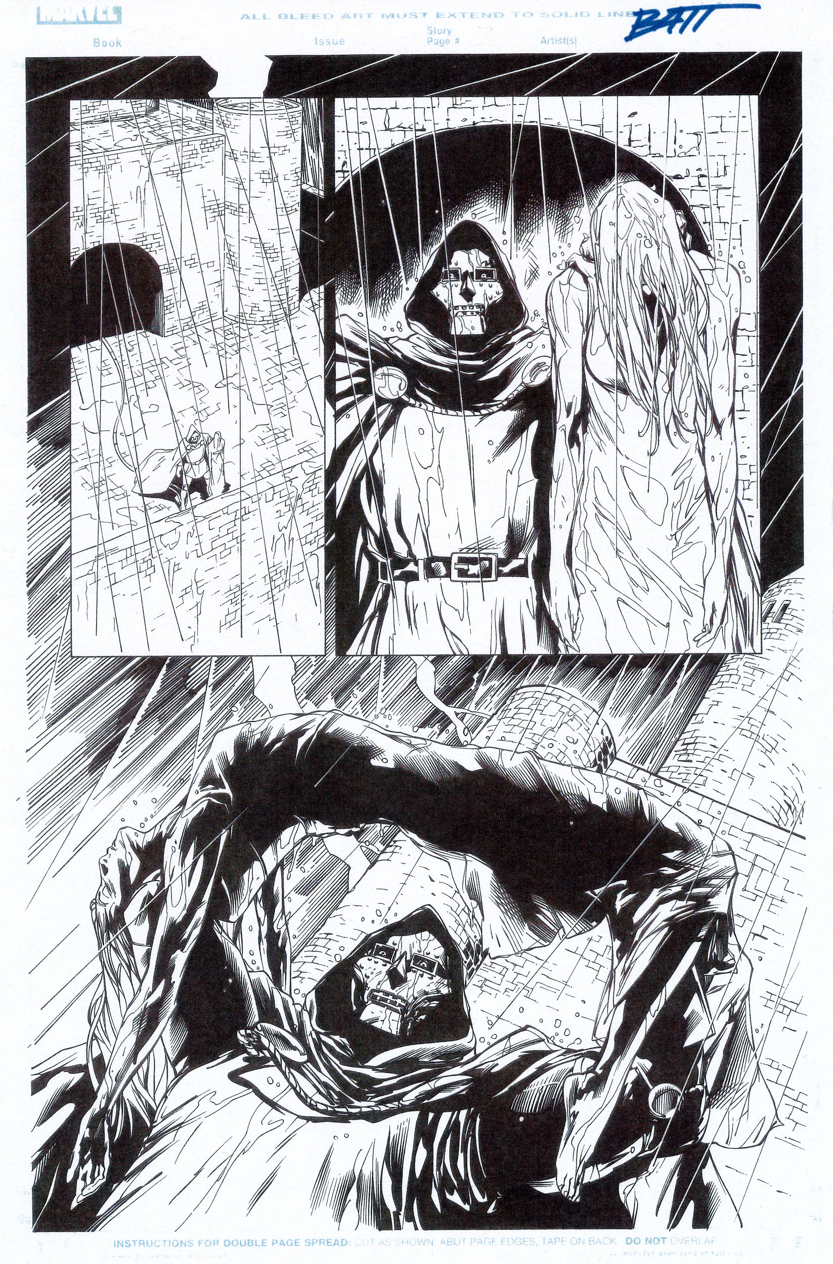 BILLY TAN 2010 THOR #605 P.7 Comic Art