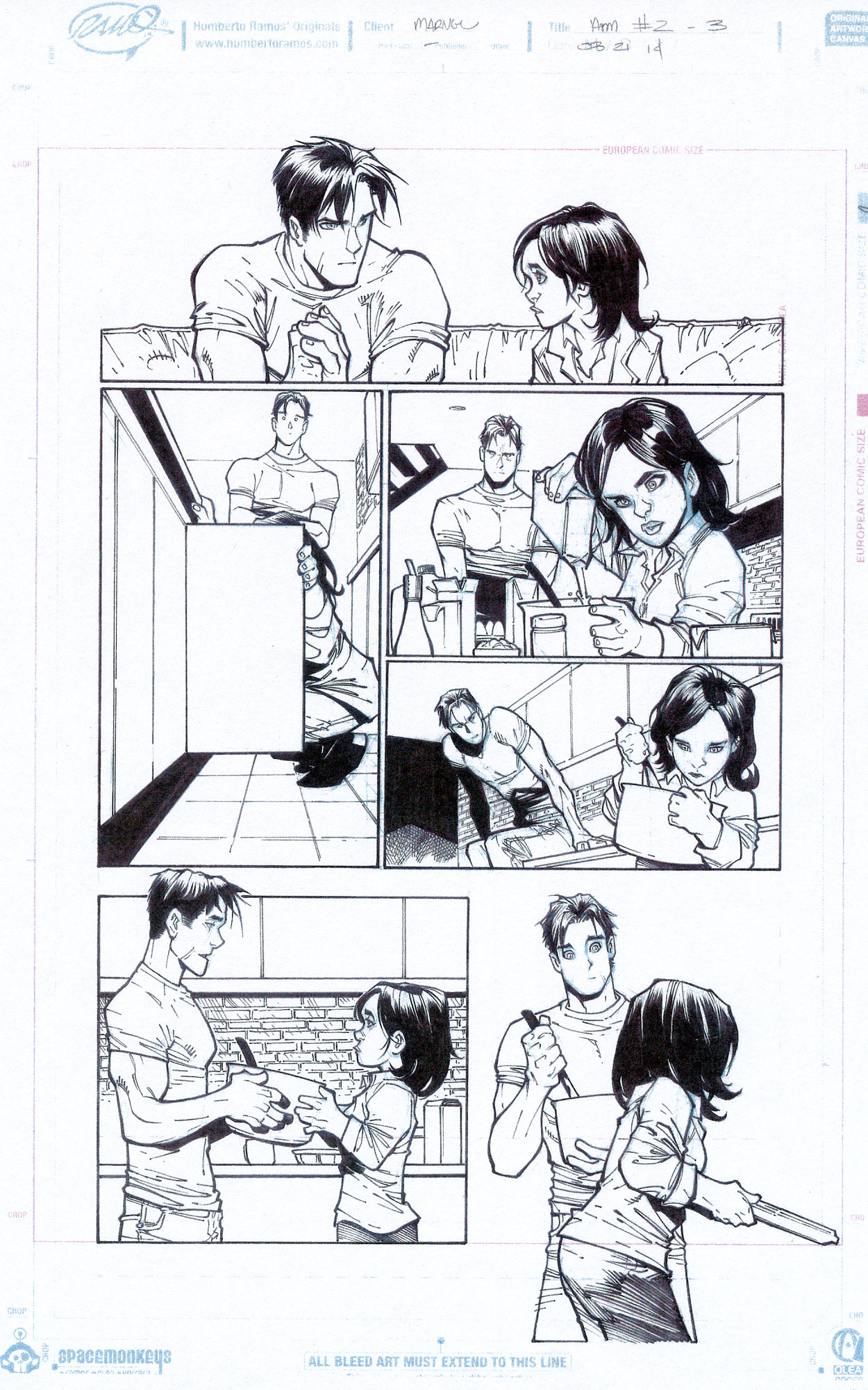 HUMBERTO RAMOS 2014 AMAZING SPIDER-MAN #2 P.3 Comic Art