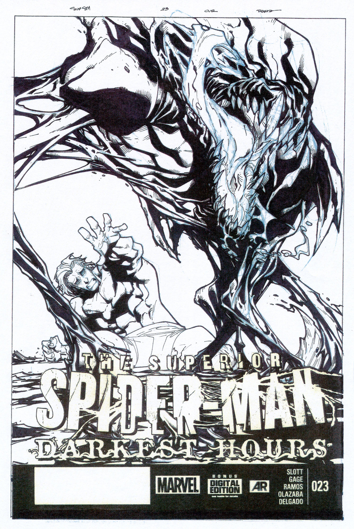 HUMBERTO RAMOS 2013 SUPERIOR SPIDER-MAN #23 COVER Comic Art