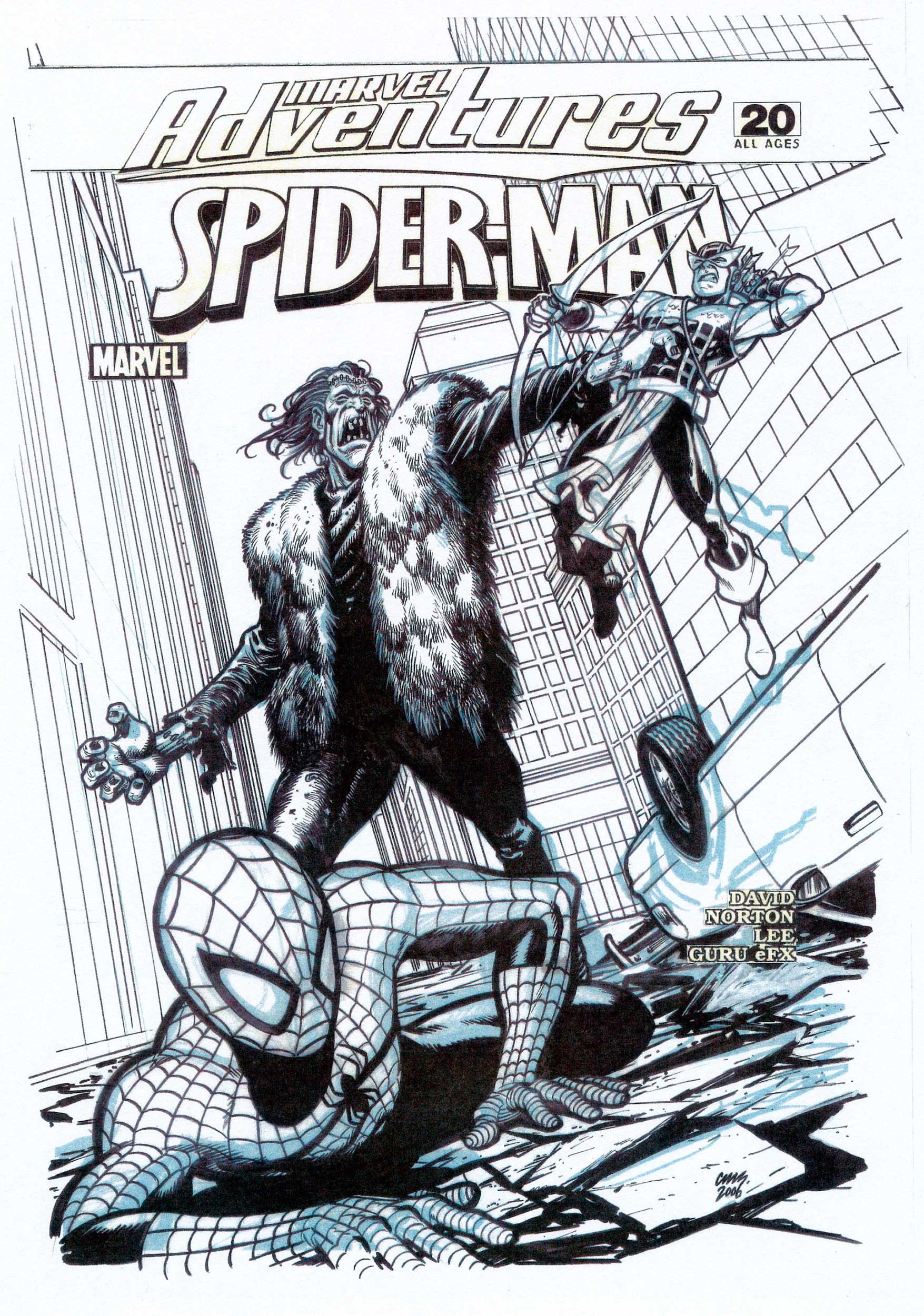 CAMERON STEWART 2006 MARVEL ADV. SPIDER-MAN #20 COVER Comic Art