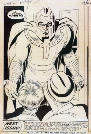 Jack-Kirby-Xmen-Magneto-Splash-Marvel-Art