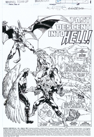 michael-golden-Spider-man-Kazar-splash-page