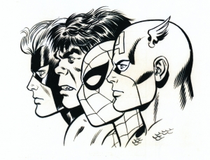 john-romita-marvel-art-spiderman-hulk-cap-america