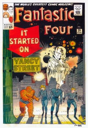 marvel cover artwork kirby fantastic four