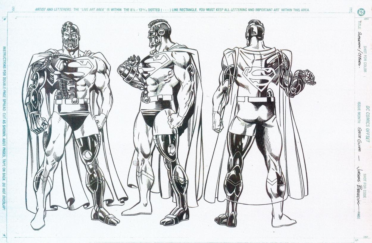 Dan Jurgens 1993 Cyborg Superman Model Sheet