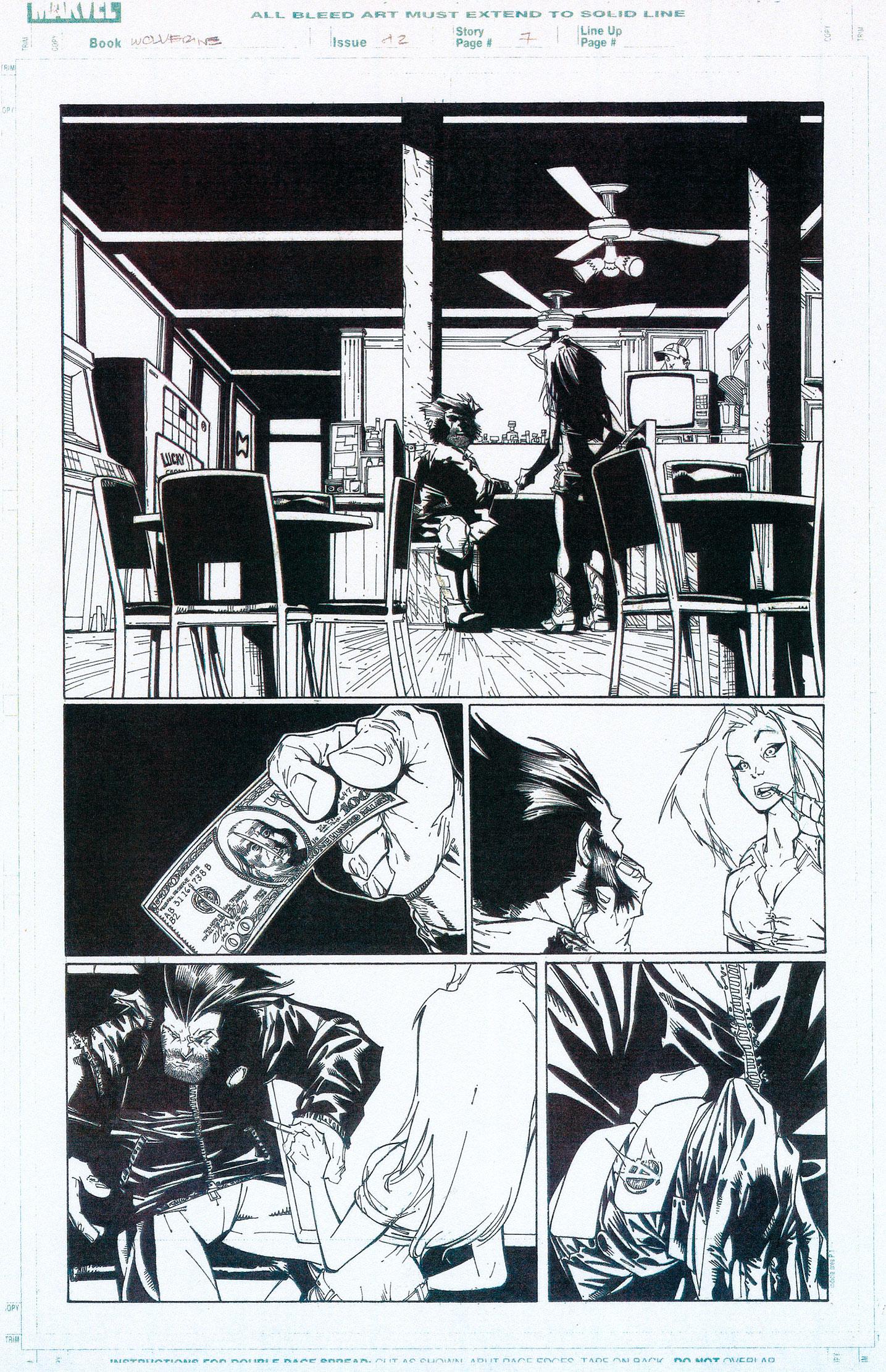 HUMBERTO RAMOS 2003 WOLVERINE #42 P.6 Comic Art