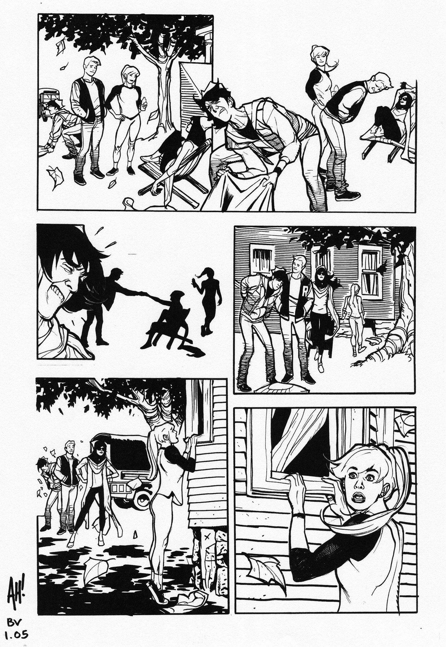 ADAM HUGHES 2016 BETTY & VERONICA #1 Comic Art