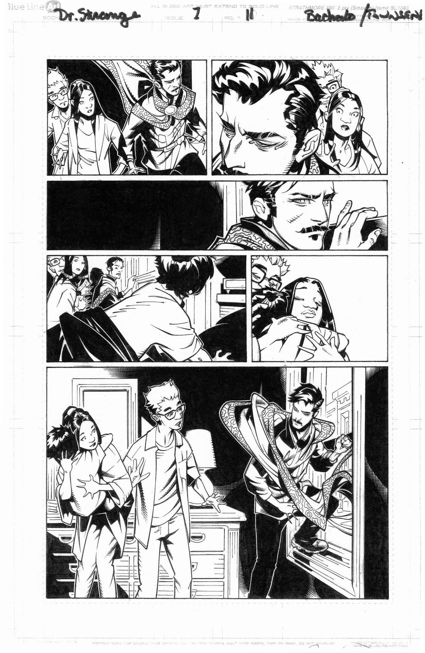 CHRIS BACHALO 2015 DR. STRANGE #1 P.11 Comic Art