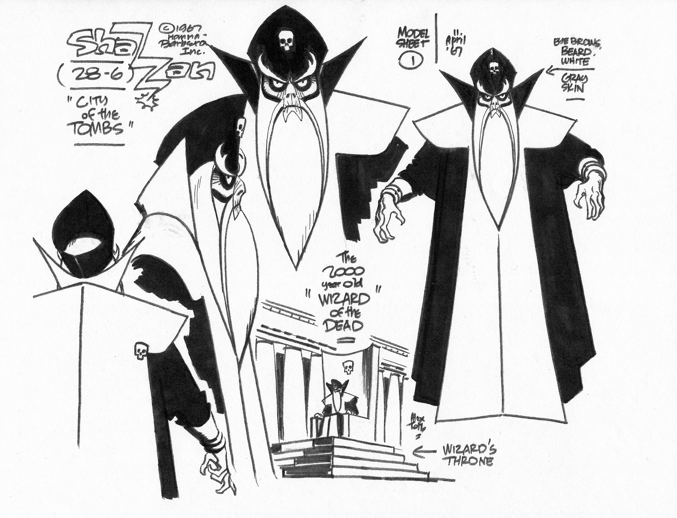 ALEX TOTH 1960�s HANNA-BARBERA CHARACTER DESIGNS Comic Art