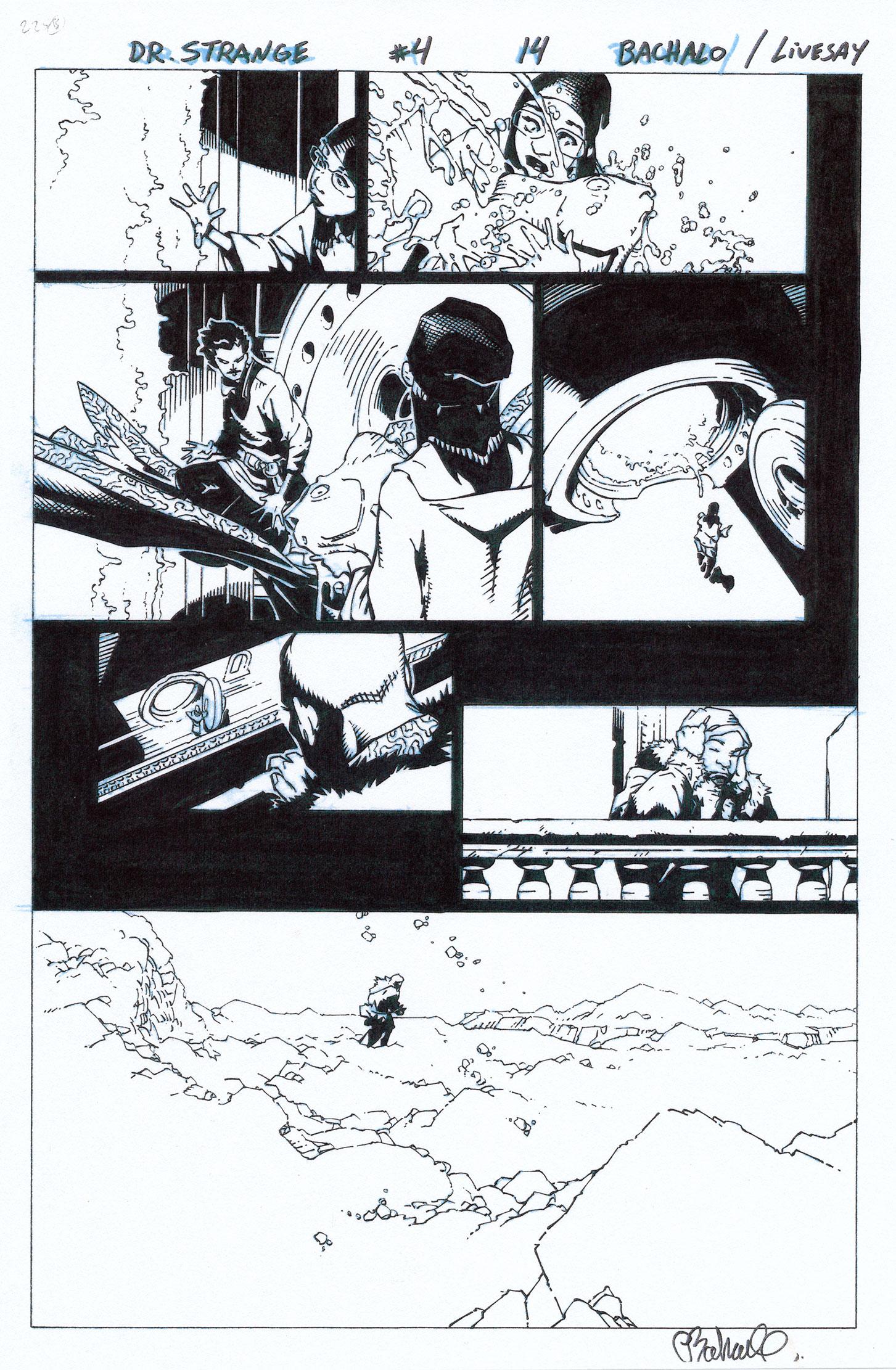 CHRIS BACHALO 2015 DR. STRANGE #4 P.14 Comic Art