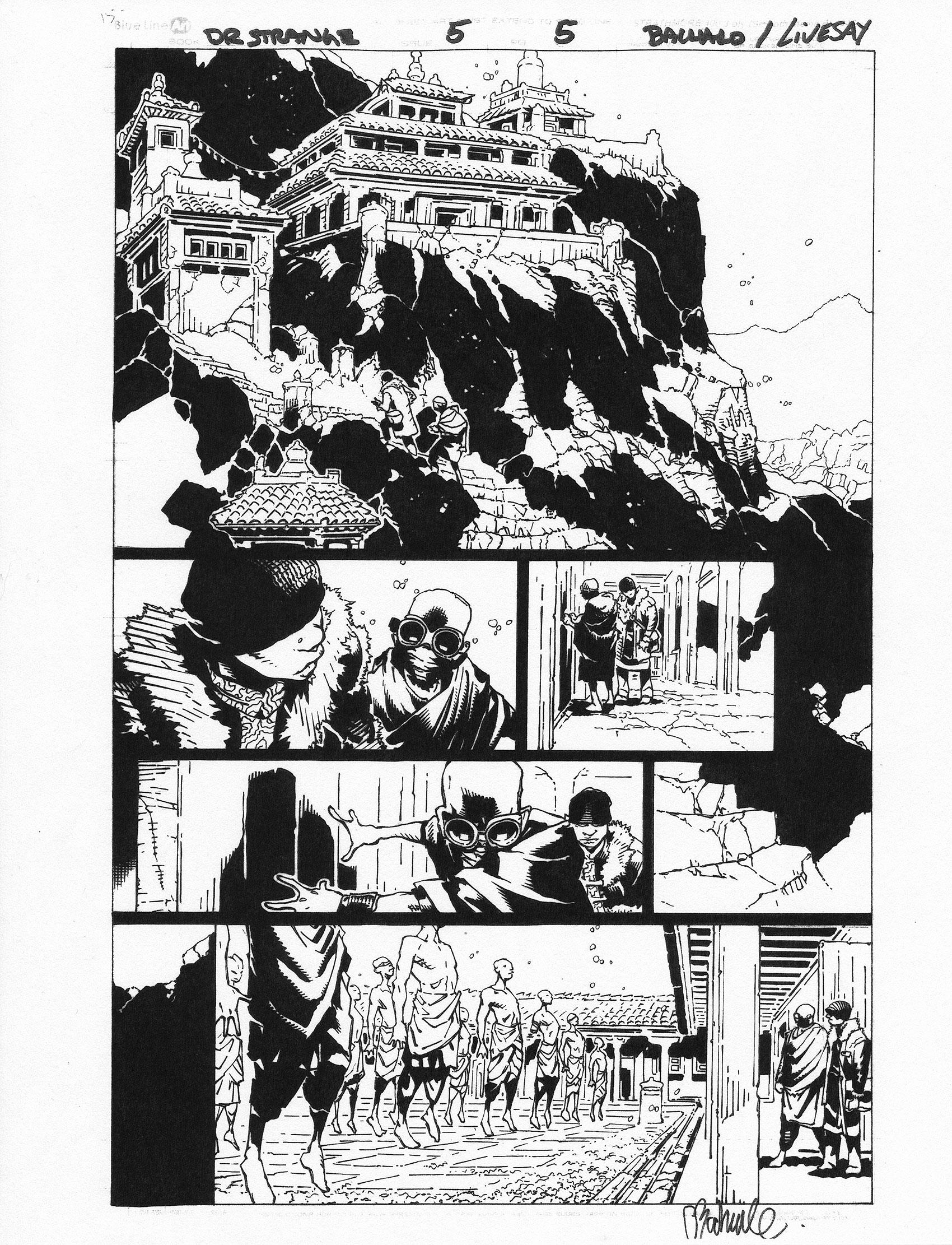CHRIS BACHALO 2015 DR. STRANGE #5 P.5 Comic Art