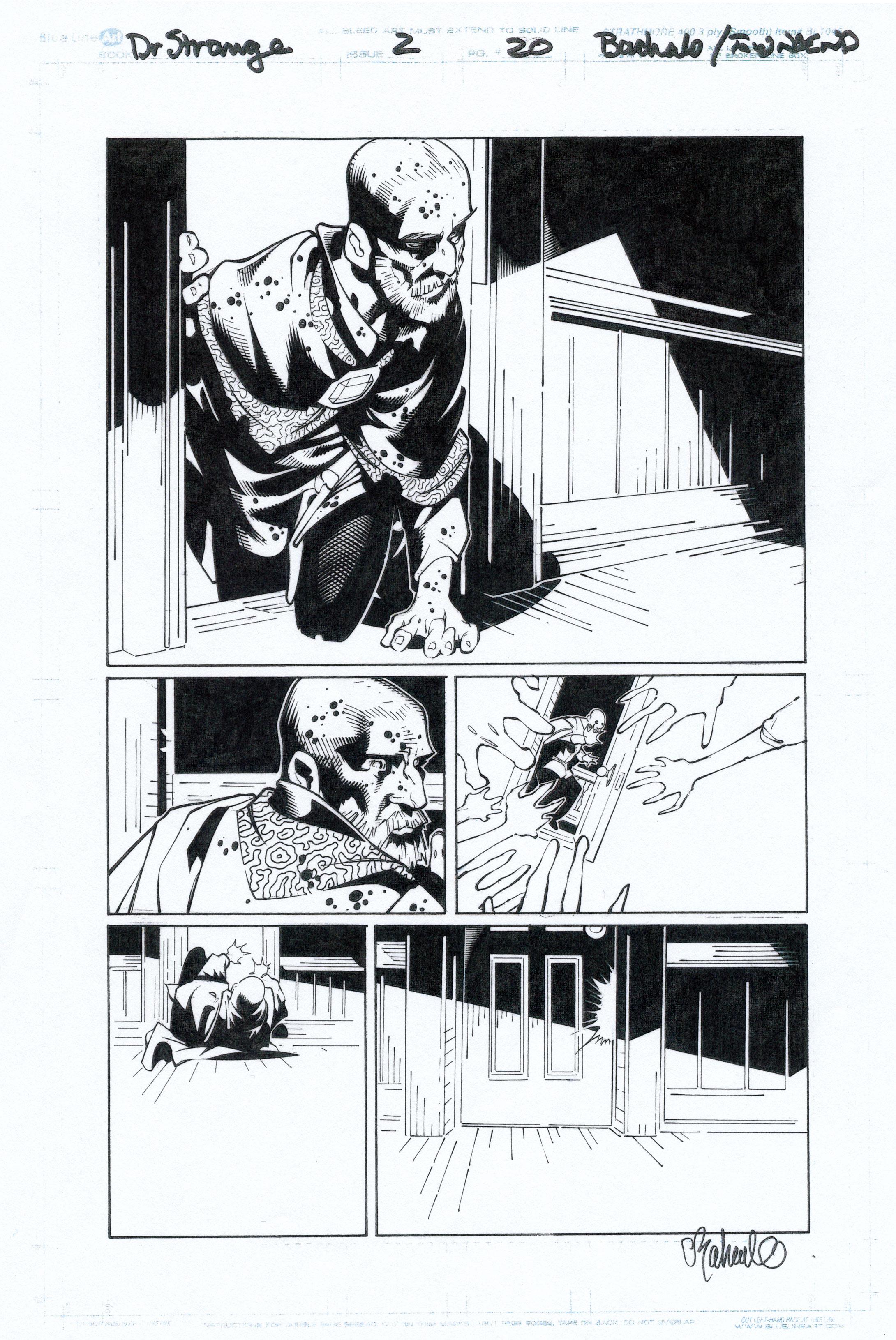 CHRIS BACHALO 2015 DR. STRANGE #2 P.19 + 20 Comic Art
