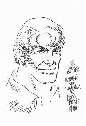 Original comic art Frank Thorne