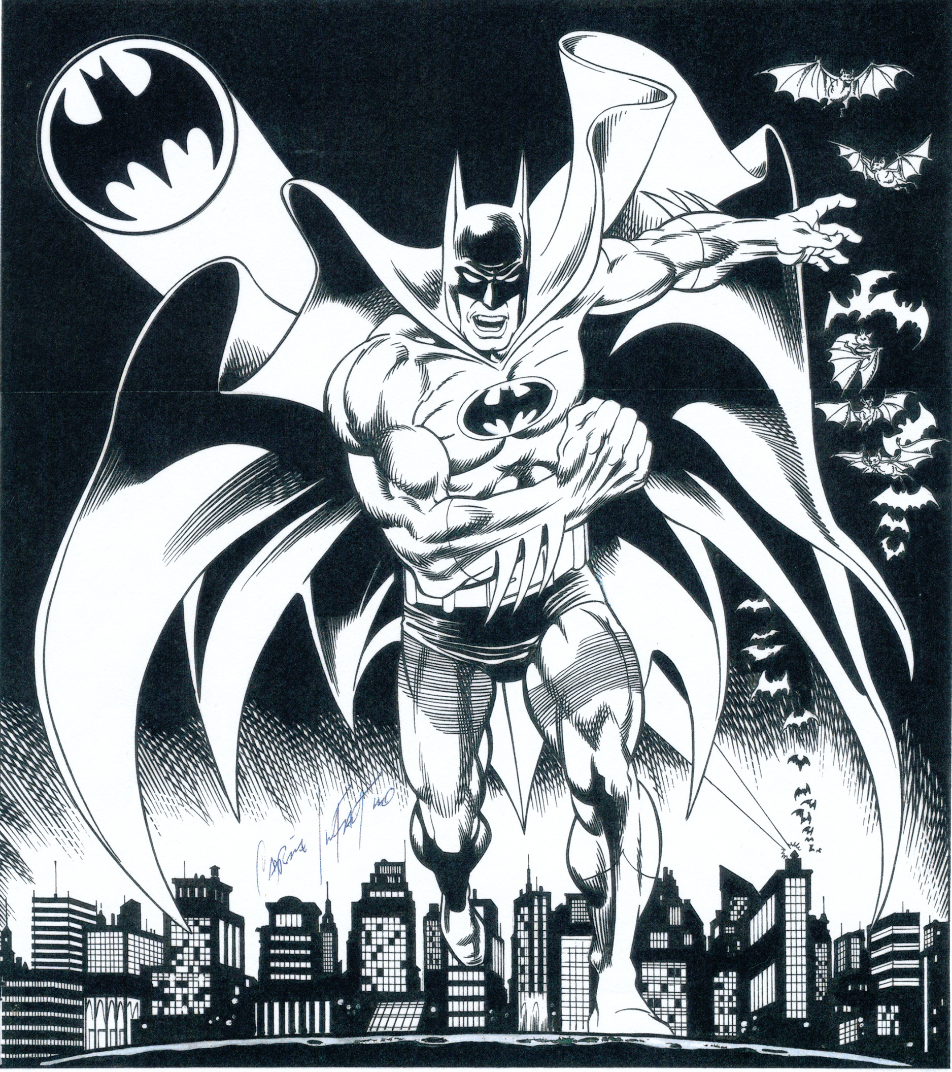 CARMINE INFANTINO 1991 BATMAN ART Comic Art