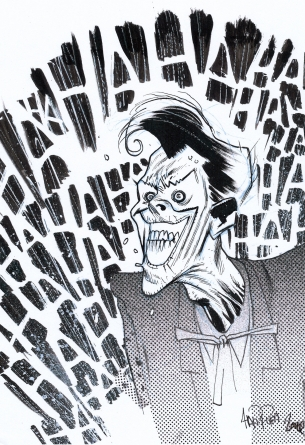 Batman Joker DC Comic Book art