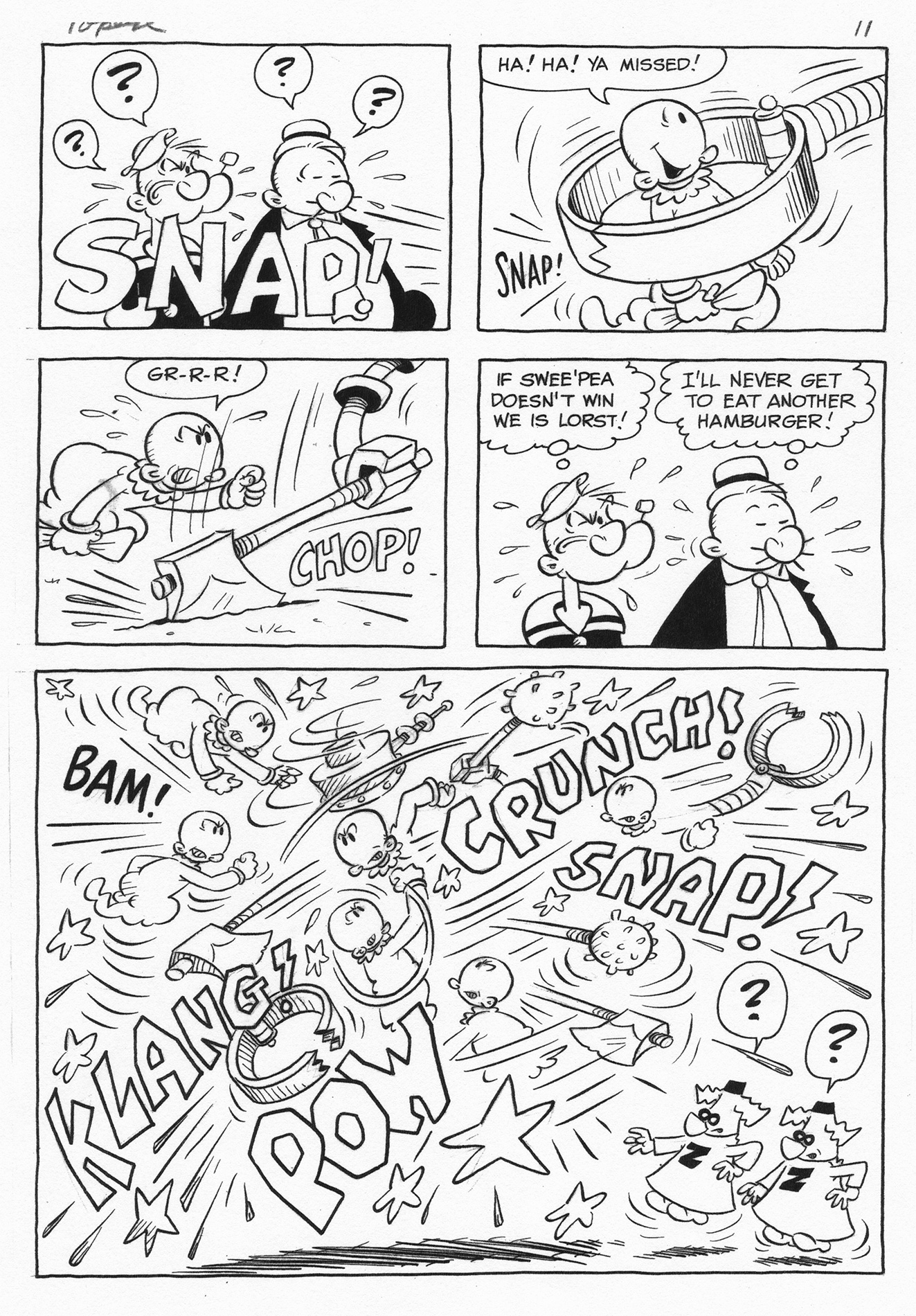 BUD SEGANDORF 1967 POPEYE #85 PG. Comic Art