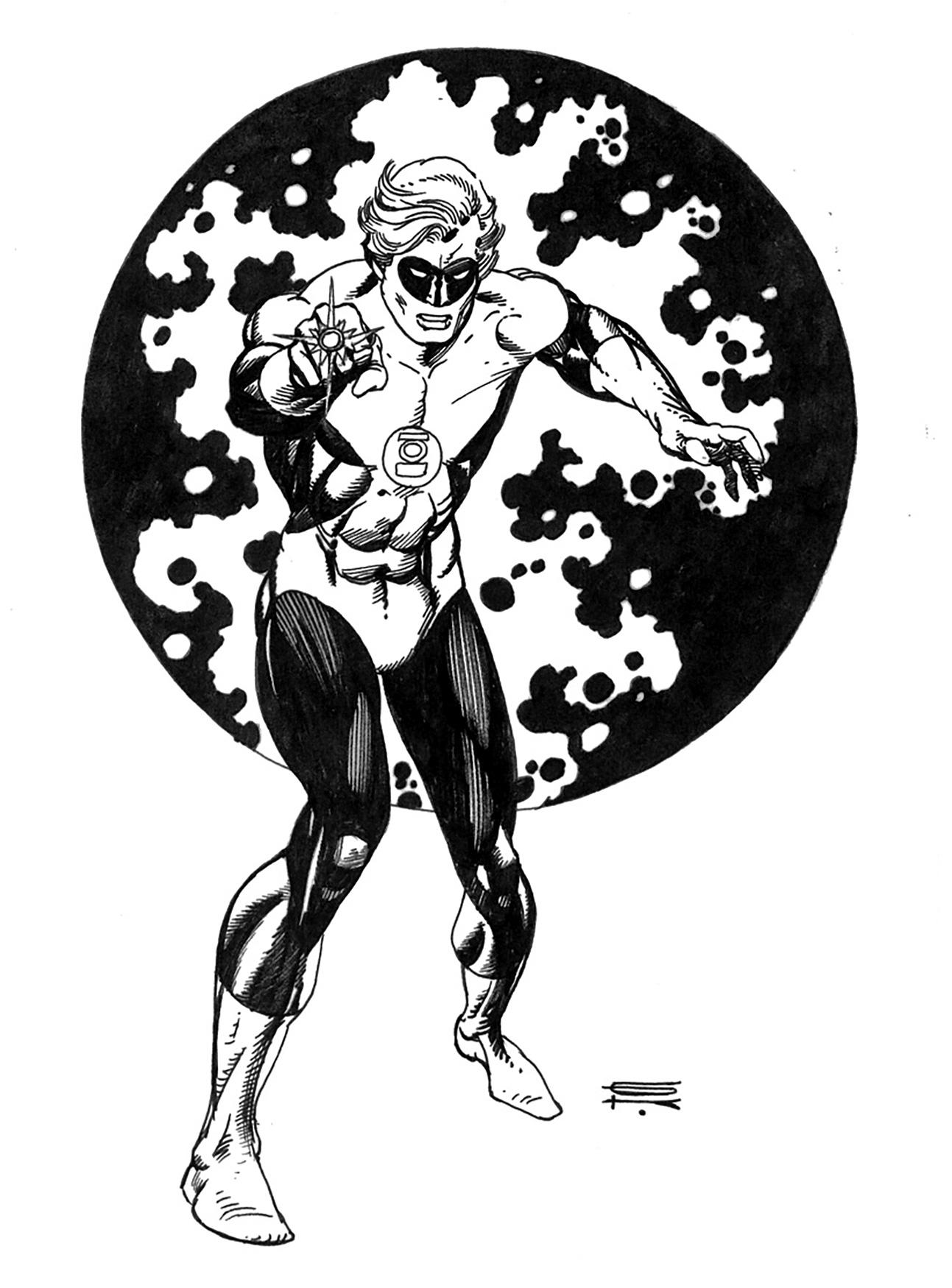 Gil Kane Green Lantern Drawing