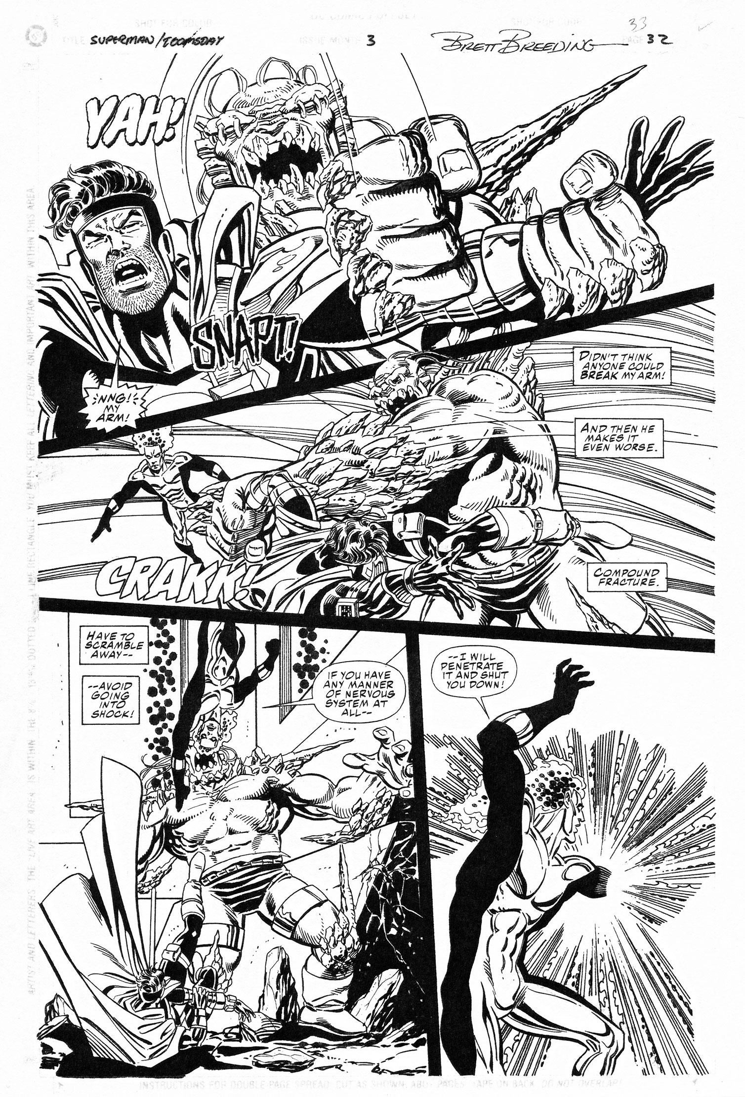 DAN JURGENS 1994 SUPERMAN/DOOMSDAY #3 P.32 Comic Art