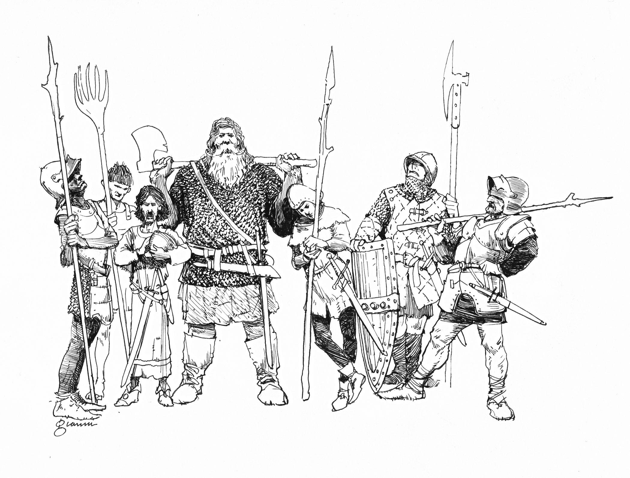 GARY GIANNI 2015 SEVEN KINGDOMS ILLUSTRATION Comic Art